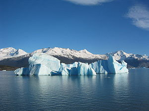 Iceberg floating in Lago Argentina broken off ...