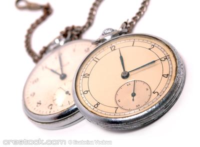 Old soviet pocket watch covered with rust and ...